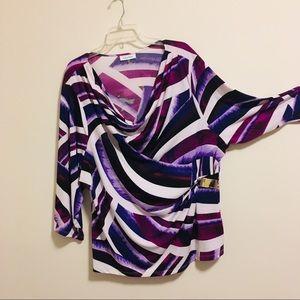 Calvin Klein Purple Escher Swirl Blouse